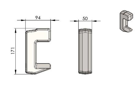 Profil C do kontenera – do ramy INP180