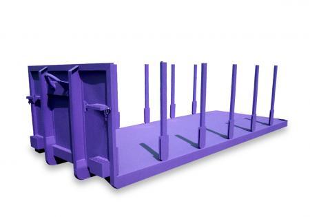 Kontener platforma z kłonicami