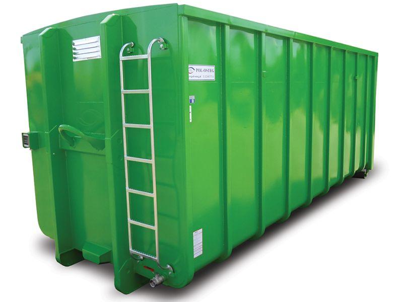 Kontener do odpadów niebezpiecznych - kontener do hakowca