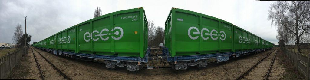 kontener do transportu koleją