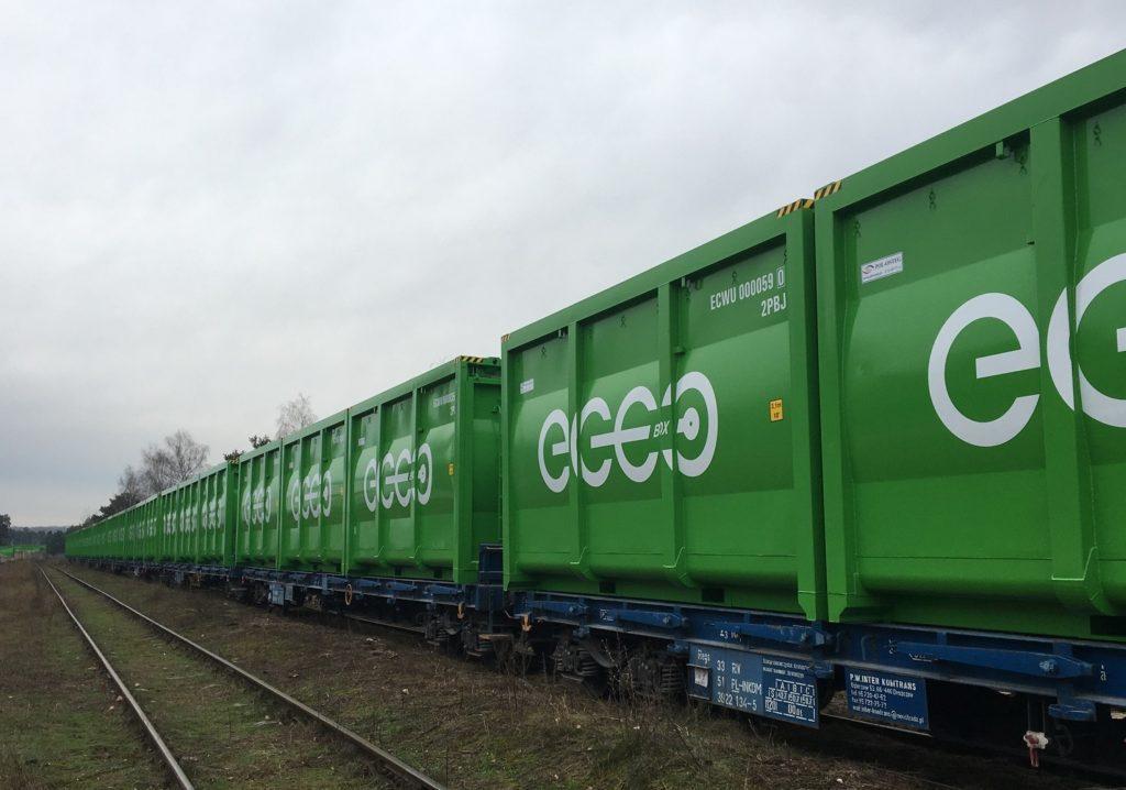 EKO-BOX kontener do transportu koleją