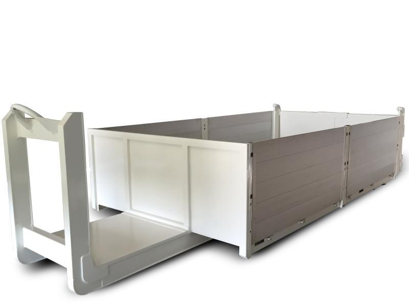 platforma z aluminiowymi burtami
