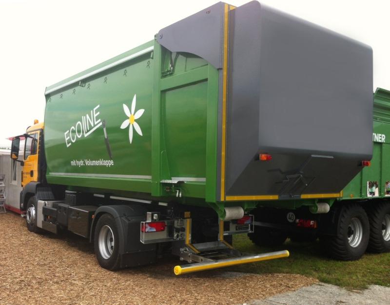 Kontener Ecoline z klapą hydrauliczną