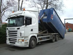 lekki kontener EKO-1 38 m³ Hardox po 4 miesiącach eksploatacji
