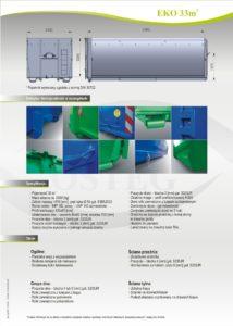 Kontener EKO-1 33 m² specyfikacja pojemnika