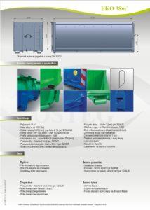 Kontener EKO-1 38 m³ specyfikacja