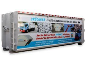 Kontener EKO-1 33 m³ wykorzystanie powierzchni reklamowej