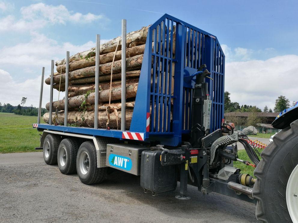 kontener z kłonicami do transportu drewna