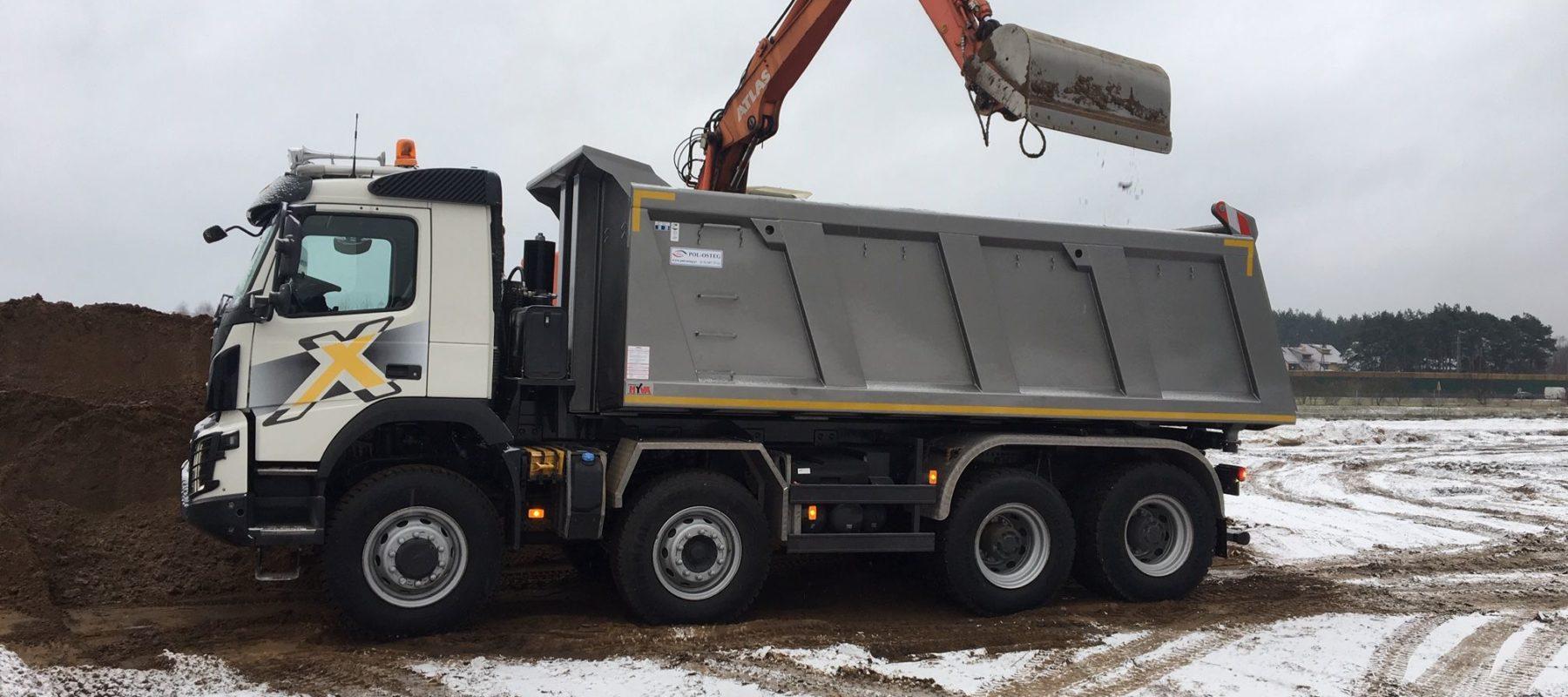 kontener na odpady budowlane i gruz